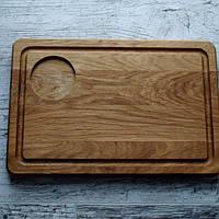 Доска прямоугольная с отделением для соусника 30х20 см