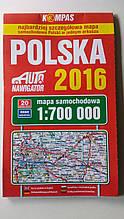 Автомобільна карта Польщі.