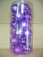 Новогодние елочные шары 24 шт. в упаковке ( диаметр 6 см ), фото 3