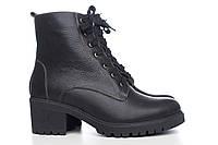 Кожаные черные ботинки 4017-04ч