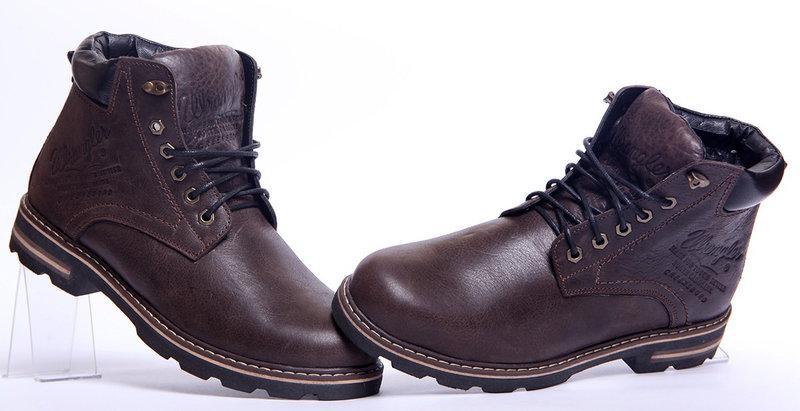 c279a0225 Кожаные мужские зимние ботинки Wrangler Aviator, коричневые: продажа ...