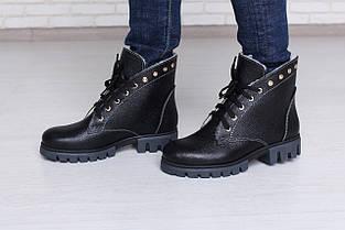 Черные зимние ботинки на меху Тера 05ч, фото 3