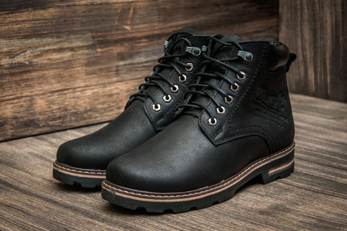 e99693632143 Кожаные мужские зимние ботинки Wrangler Aviator, черные - Интернет магазин