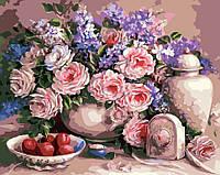 """Картина по номерам """"Чайные розы"""""""