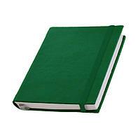 Записная книжка Туксон  White Line,белый блок в линейку, кожзам, зеленая