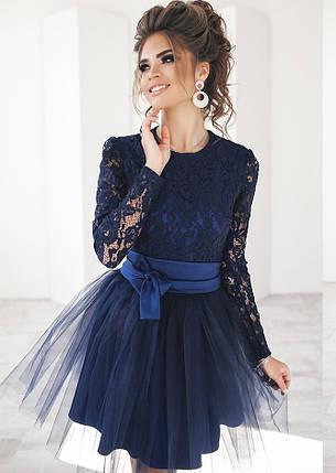Т2014 Платье коктейльное с парчей, фото 2