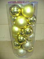 Елочные шары 24 шт. в упаковке ( диаметр 8 см ) ассорти, фото 2