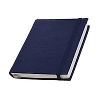 Записная книжка Туксон  White Line,белый блок в линейку, кожзам, темно-синяя