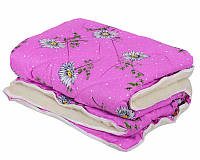 """Теплое одеяло полуторного размера из овечьей шерсти """"Лери Макс"""" - розового окраса"""
