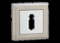 Накладка дверная под цилиндр MVM E8-3 SN/CP (матовый никель/полированный хром)