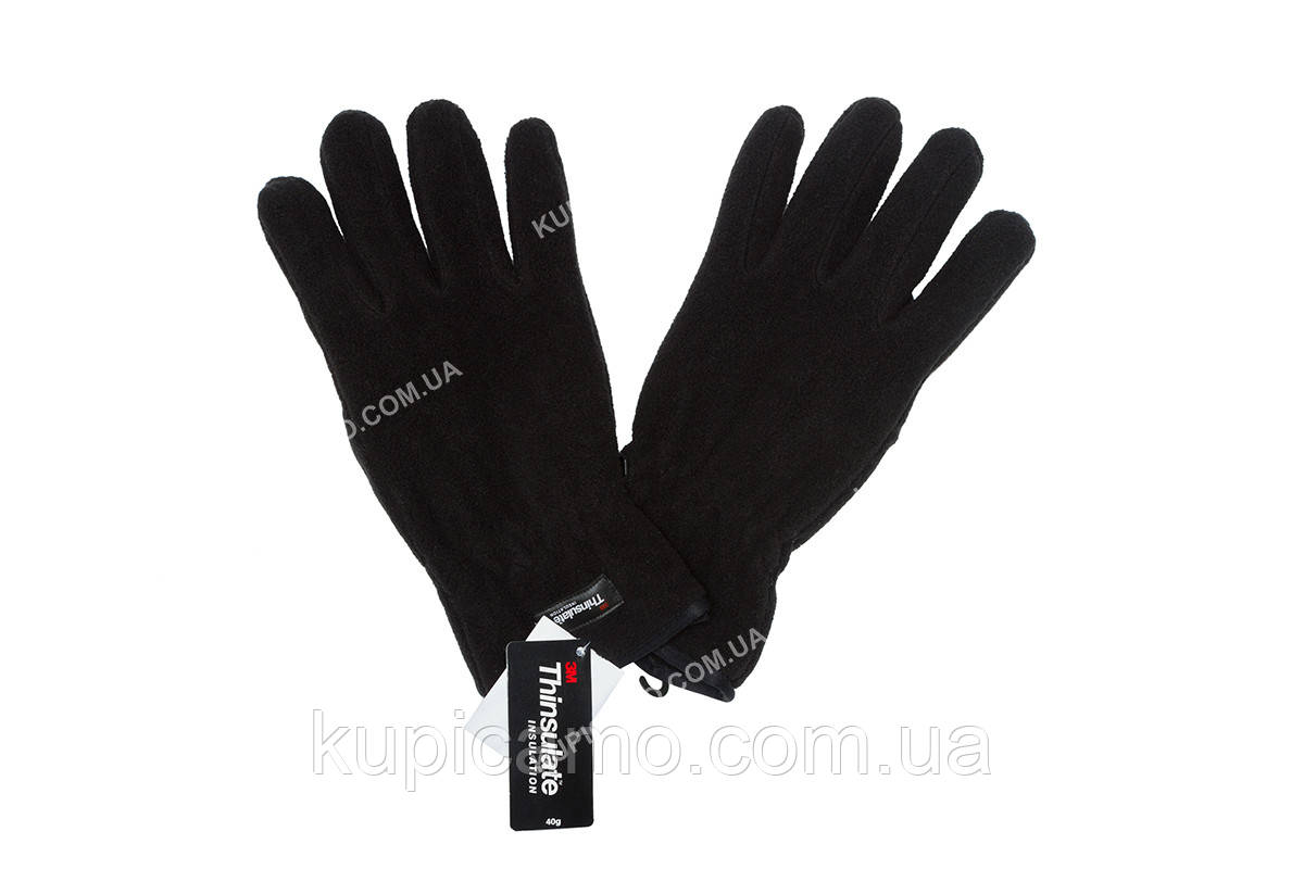 """Перчатки зимние флисовые ветрозащитные  Thinsulate -30 """"REIS"""" Польша """"Черный"""""""