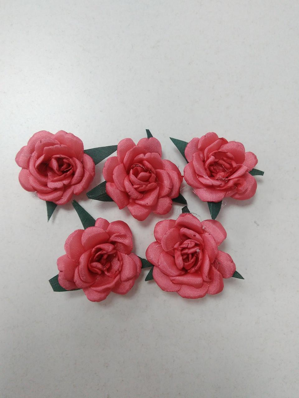 Цветы из ткани для рукоделия/розы из ткани коралловые