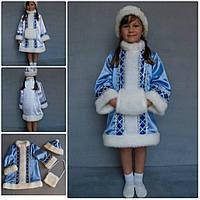Детский карнавальный новогодний костюм Снегурочка № 1