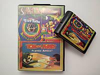 Картридж 16bit для Sega Mega Drive - SUPER 3in1 (Tiny Toon, The Flintstones, Tom&Jerry) (в больш. боксе)