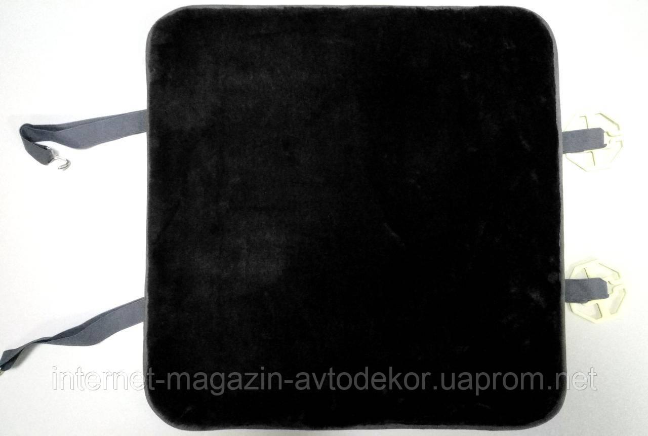 Меховые подушки на сиденья PSV, черная шерсть.