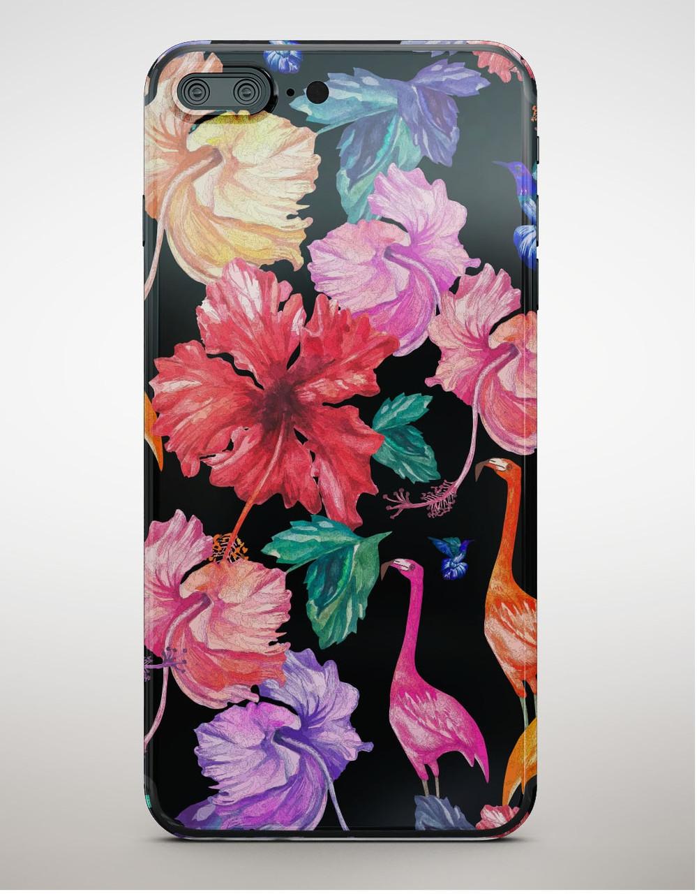 Накладка пластиковая Florence Blackview A7 flamingo flowers