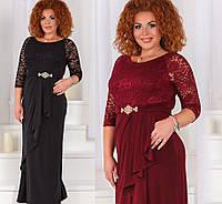 Женское длинное нарядное  платье больших размеров