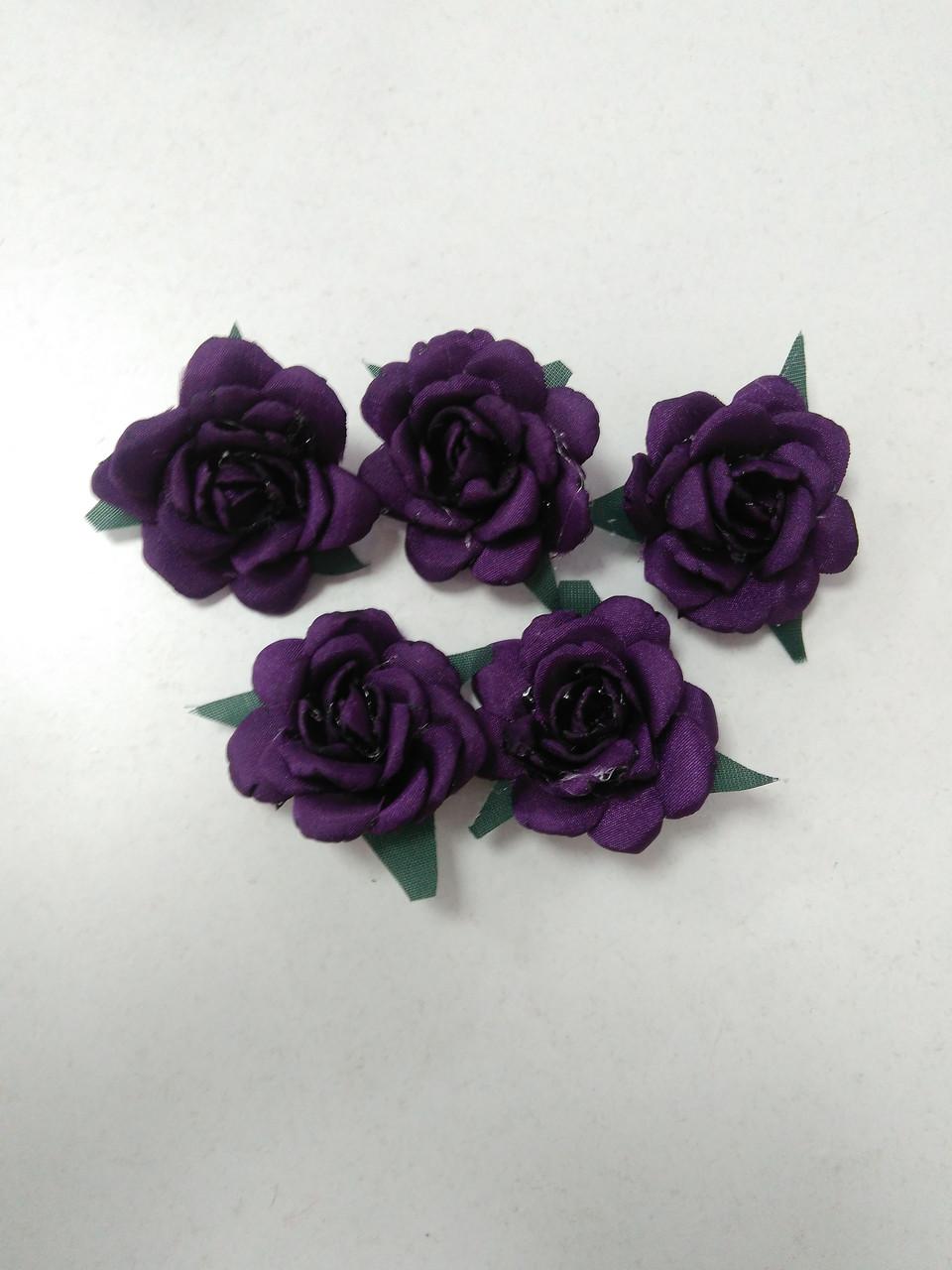 Цветы из ткани для рукоделия/розы из ткани фиолетовые