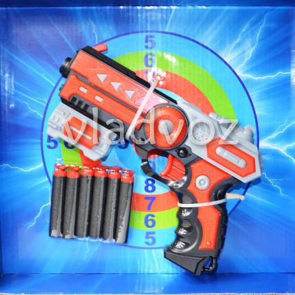 Детский пистолет Soft bullet gun красный, фото 2