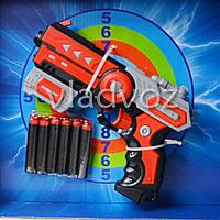 Детский пистолет с присосками Soft bullet gun красный