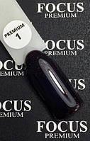Гель-лак FOCUS premium №001 (темно-бордовый, микроблеск), 8 мл