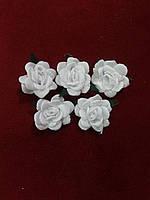 Цветы из ткани для рукоделия/розы из ткани белые