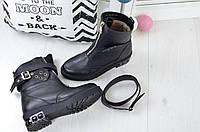 Зимние кожаные ботинки Модель  3539
