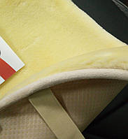Меховые подушки на сиденья PSV, бежевые.