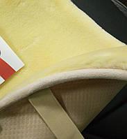 Меховые подушки на сиденья PSV, бежевые., фото 1