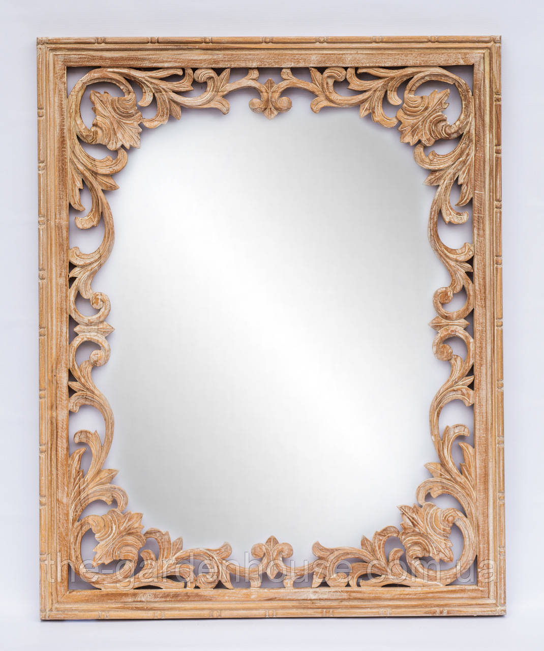 Зеркало Alteya в оправе из тикового дерева 100х80 см