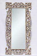 Зеркало Toledo в оправе из тикового дерева 180х90 см, белое