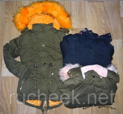 Зимняя куртка парка  для девочек на меховой подкладке , S&D ,