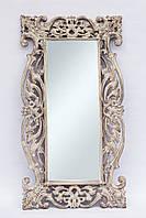 Зеркало Toledo из тика 150х80 см, белое