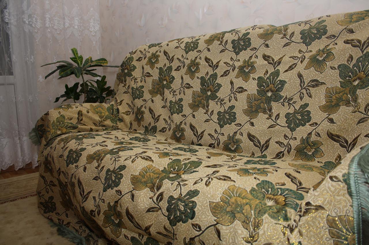 Люрикс мальвы комплект на диван и два кресла (дивандеки)