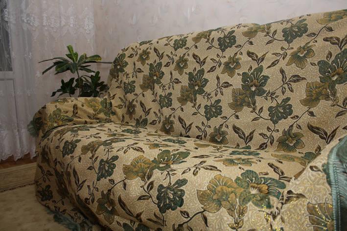 Люрикс мальвы комплект на диван и два кресла (дивандеки), фото 2