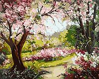 """Картина за номерами """"Весняний сад"""" 40*50см"""