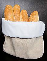 Мешочек для хлеба цвета слоновой кости, текстильная хлебница
