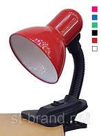 Настольная лампа ученическая (на прищепке с кнопкой) красная