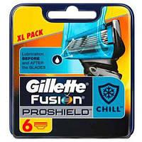 Картриджи Gillette Fusion ProShield Chill Оригинал 6 шт в упаковке производство Германия