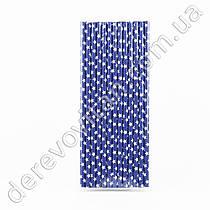 Бумажные трубочки, синие в белых звездах, 25 шт.