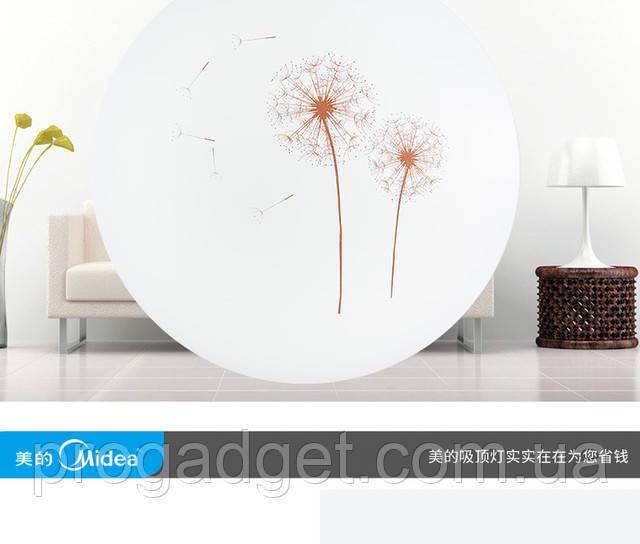 Потолочный ультра-тонкий светильник Midea LED lamp 12 Wt белый с рисунком