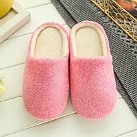 Тапочки домашние женские комнатные 39-40 размер (розовые)