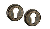 Накладка дверная под цилиндр MVM E6 AMAB (античная матовая старая бронза)