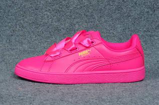 Кроссовки женские Puma Basket Heart / PMM-586 (Реплика)