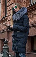 Теплый пуховик с натуральным мехом Towmy 2066