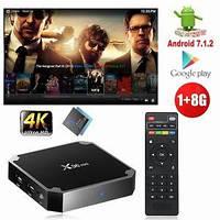 1000+каналов Смарт приставка X96 mini 1Gb+8Gb оригинал Android 7.1 TV Box лучшая прошивка