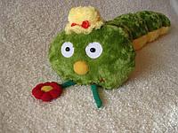 Декоративная интерьерная подушка игрушка гусеница ручная работа
