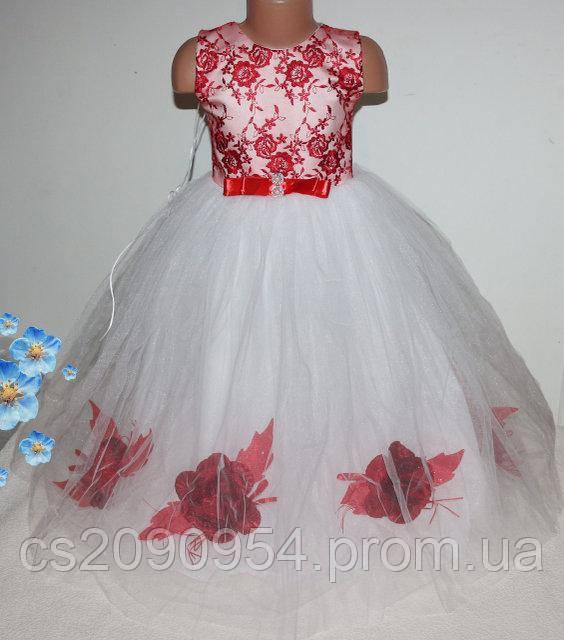 Красивое нарядное платье на девочку 3-6 лет на шнуровке