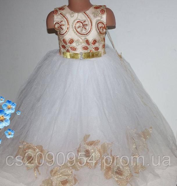 Красивое нарядное платье на девочку 3-6 лет (шнуровка)