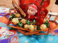 Корзина хлебница для новогодних подарков